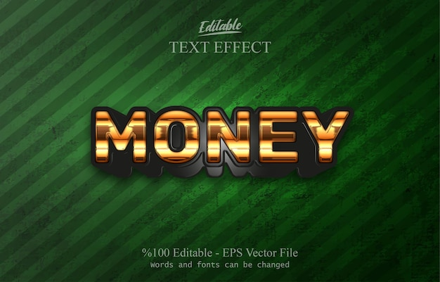 Money editable text effect
