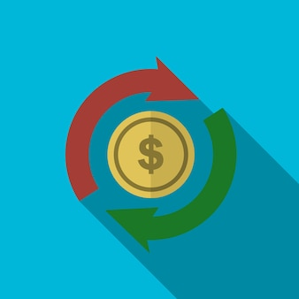 Money exchange flat icon illustration isolated vector sign symbol