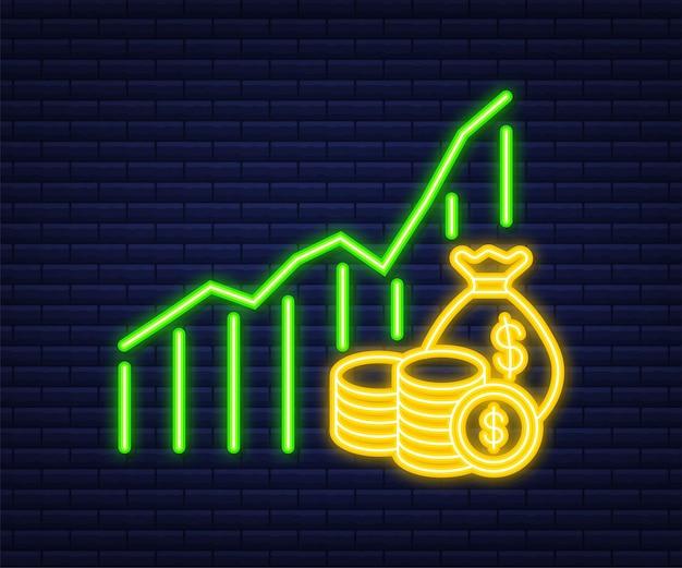 Деньги, финансы и платежи. установите значок сети наброски. неоновая иконка. векторная иллюстрация.