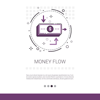 Money flow business investment banner