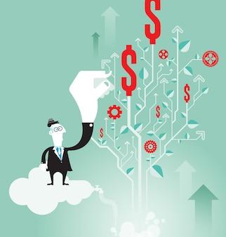 マネーの成長と投資のコンセプト