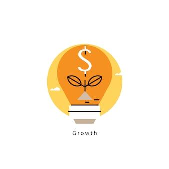 Sfondo di crescita dei soldi