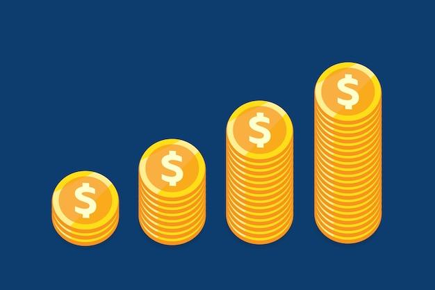 Концепция вектора роста денег для бизнеса.