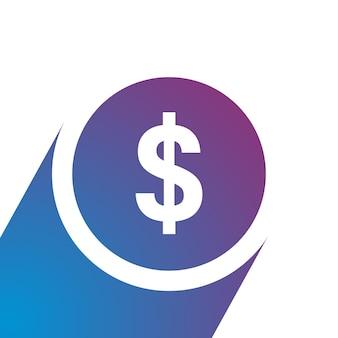 お金のアイコンフラットスタイルのベクトル図