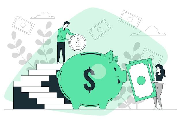 Иллюстрация концепции денежного дохода