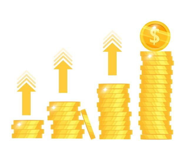 돈 수입 증가, 수입 증가 또는 투자 수익