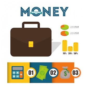 Деньги инфографики дизайн.