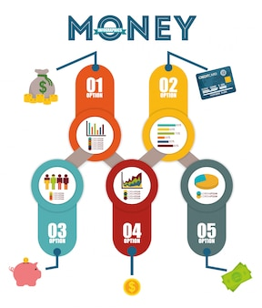 Money infographic design.