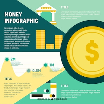 Money infographic template in flat design