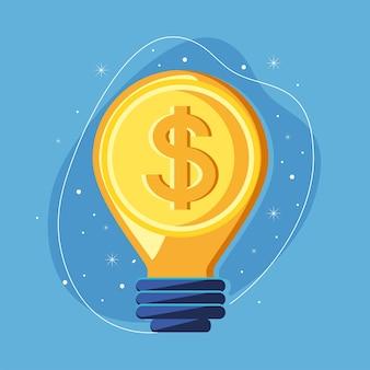 Money inside bulb