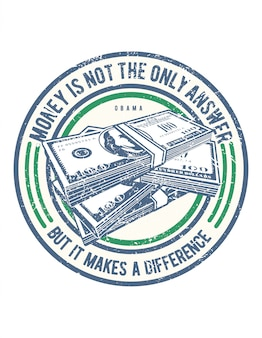 Money is not the only answer illustration design