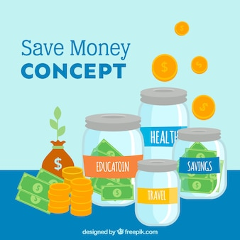 Priorità bassa del vaso dei soldi