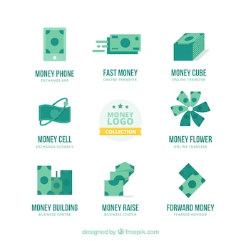 Money logos collection for companies Vector | Free Download