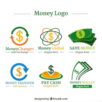 Money logos collection for companies