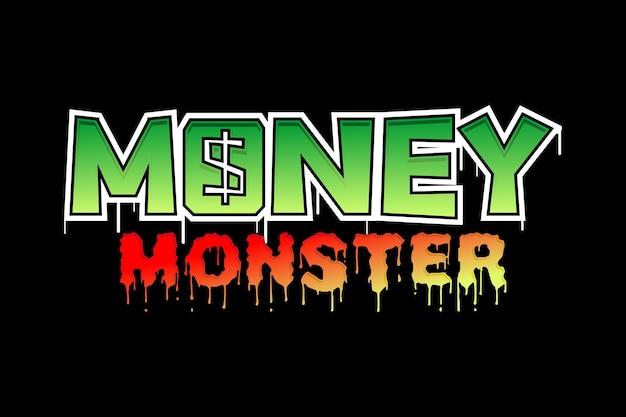 Деньги монстр мотивационные вдохновляющие цитата типография футболка дизайн графический вектор