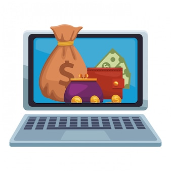Money online from laptop