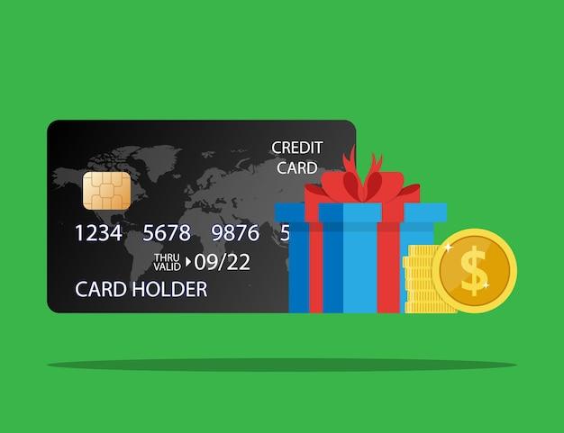 お金の報酬ギフトはクレジットバンクカードの収入にボーナス現金を与えます