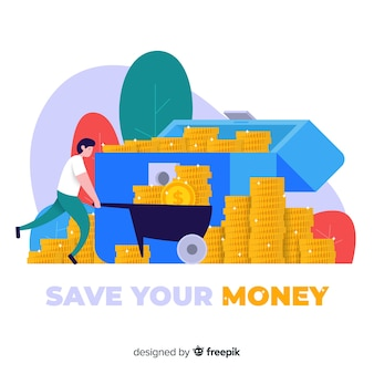 Money saving concept