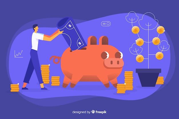 Money saving concept