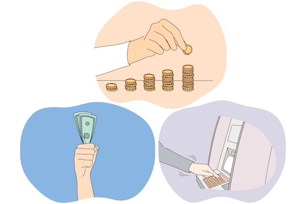 Money savings, earning financial wealth concept.