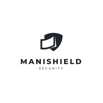 Money and shield logo design for security company