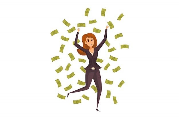 Деньги, успех, прибыль, богатство, бизнес-концепция.