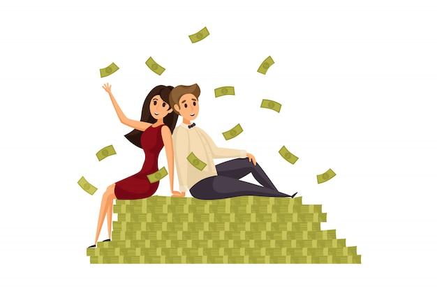 Money, success, profit, wealth, business concept.
