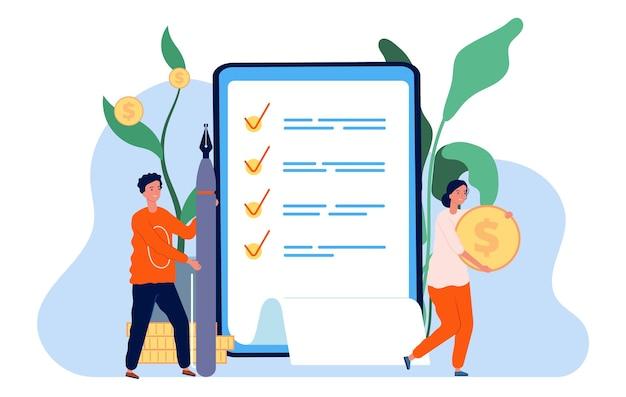 돈 조사. 온라인 설문지, 선거 개념.