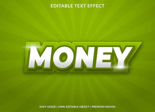 Money text effect template with bold style use for business brand and logo
