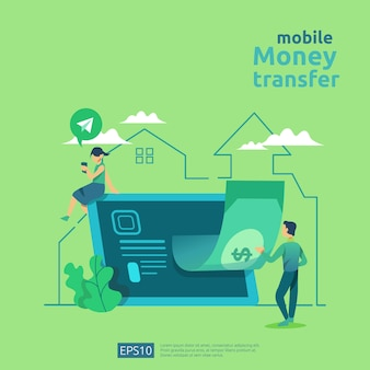 Money transfer concept illustration