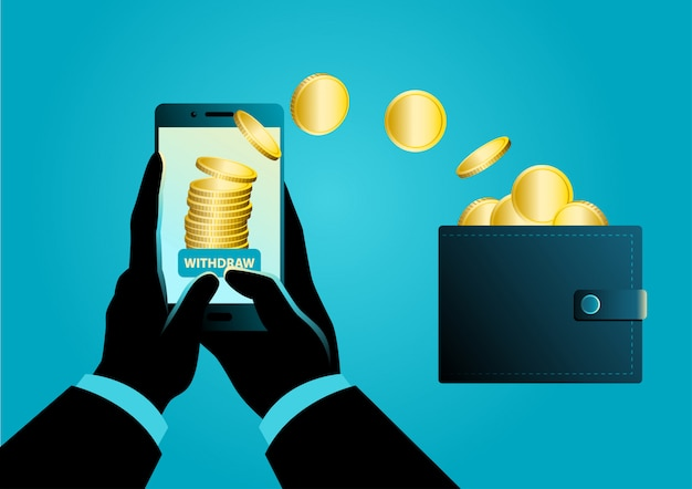 Money transfer from mobile phone into wallet
