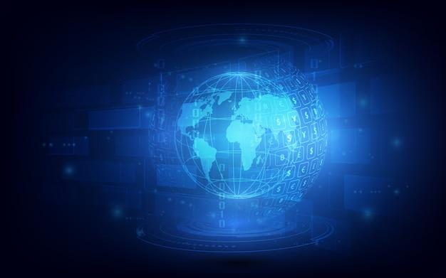 送金。グローバル通貨証券取引所株式ベクトル図