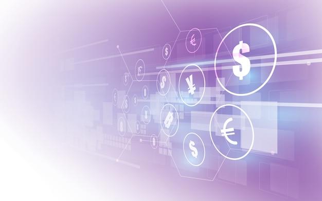 送金。グローバル通貨。証券取引所。株式 。