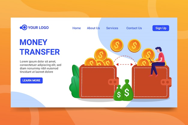 Money transfer landing page