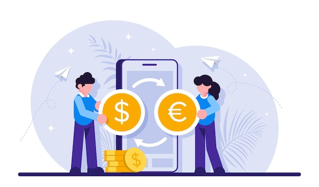 Money transfer with mobile app.