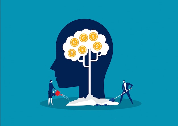 Money tree, income growing metaphor success investment concept