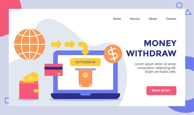 Money withdraw for website