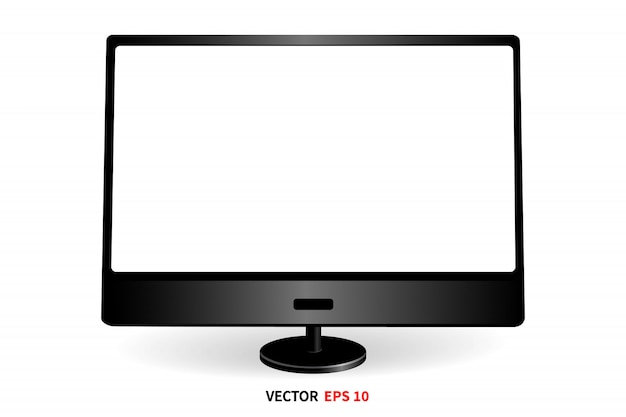 Monitor front view template