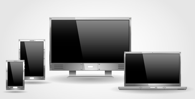 Monitor laptop and tablet