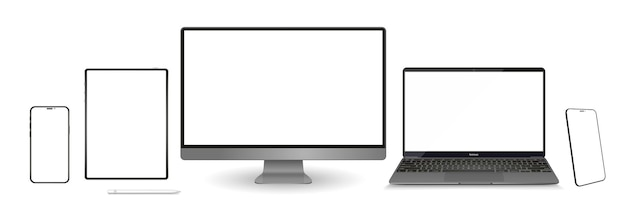 Monitor and mobile phone template