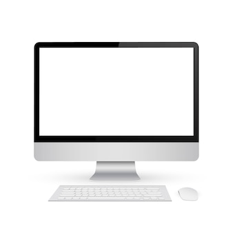 Monitor mock up with blank screen.