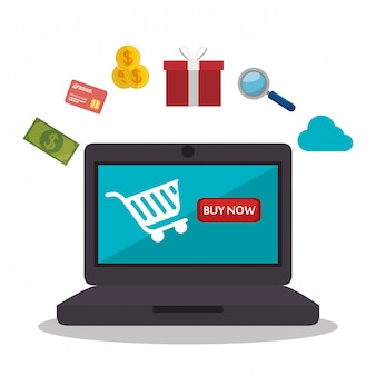 Monitor pc e-commerce shop online design
