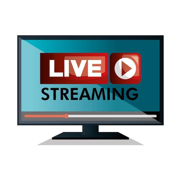 Monitor pc live streaming design