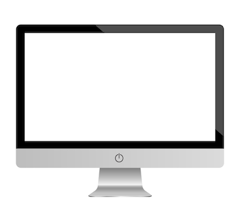 Monitor set mockup vector