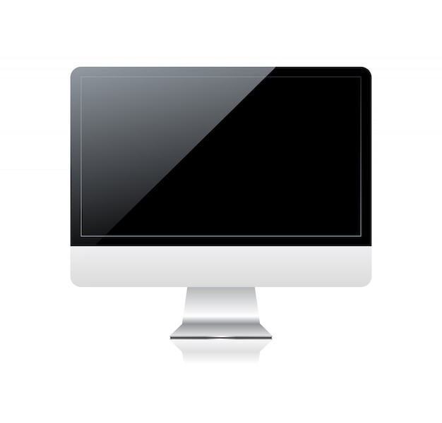 Monitor with black screen.