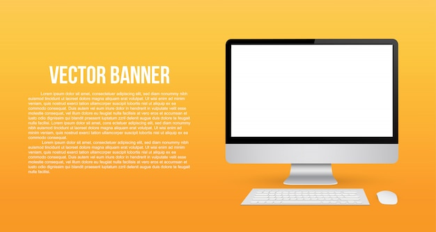 Monitor  with blank screen.