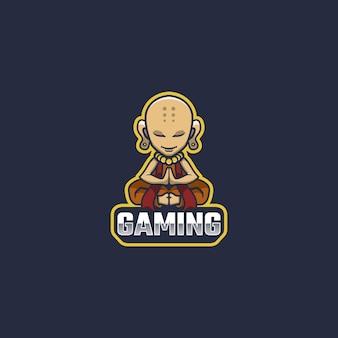 僧侶のロゴのマスコット