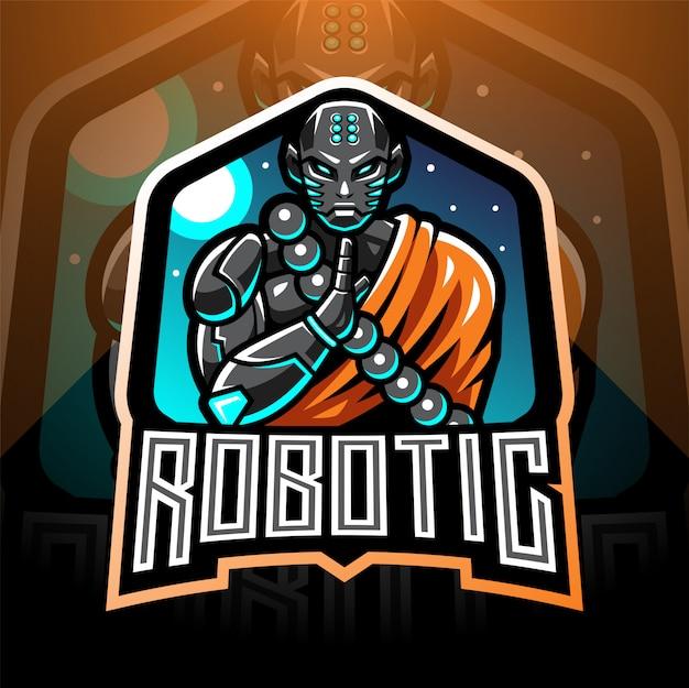 モンクロボットエスポートマスコットロゴ