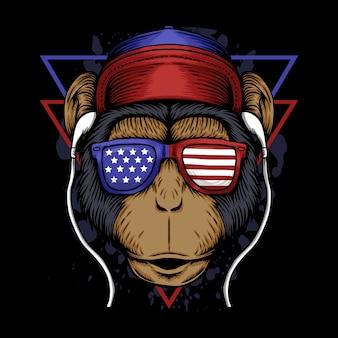 Monkey america illustration