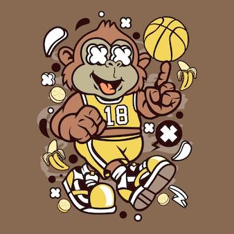 Monkey basketball player
